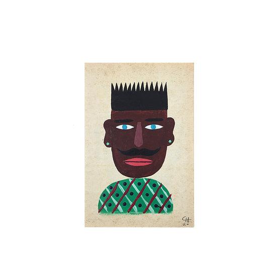 CRAIGIO Green Earring Painting