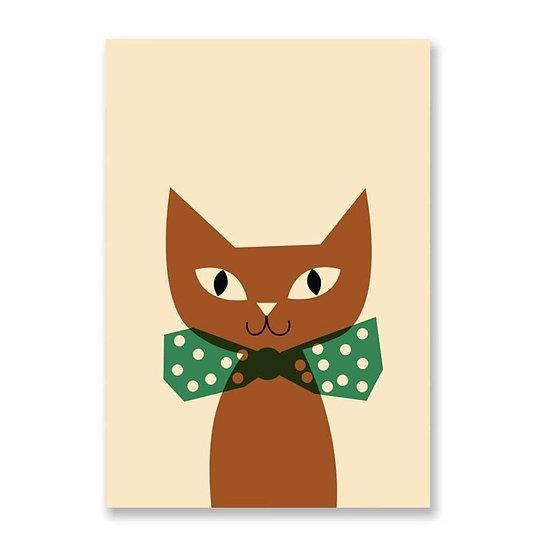 ANNA KÖVECSES Cat Postcard