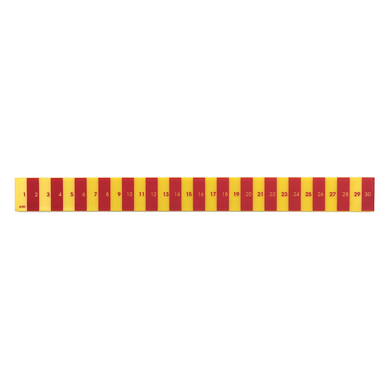 SCENERY LABEL Striped Ruler Red