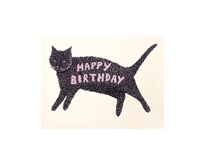 GILLIAN WILSON Birthday Kitty Card