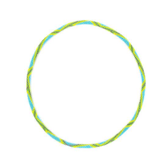 KENTE PROJECT Necklace Lime Pattern