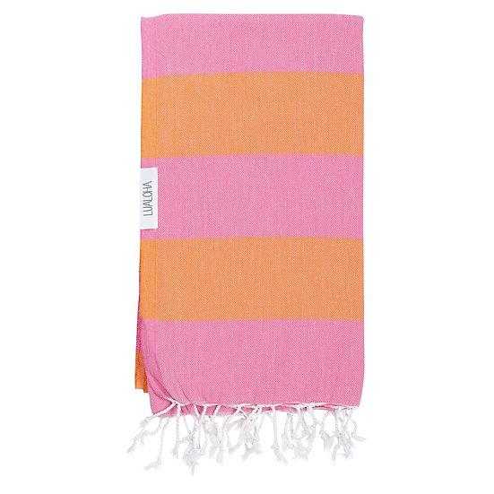 LUALOHA Orange Pink Towel