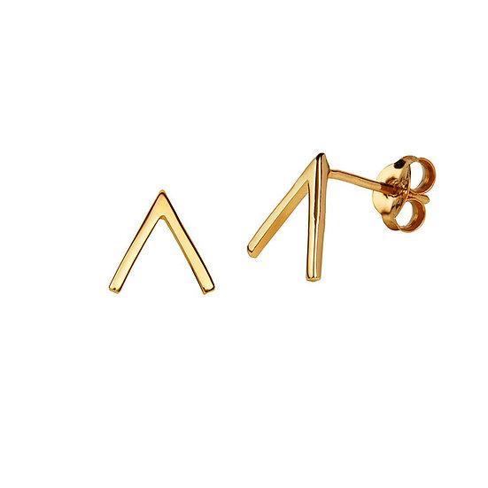 JUULRY Arrow Stud Earrings Gold