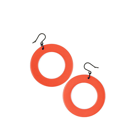 WHOLESALE Drop Earrings Orange Circle