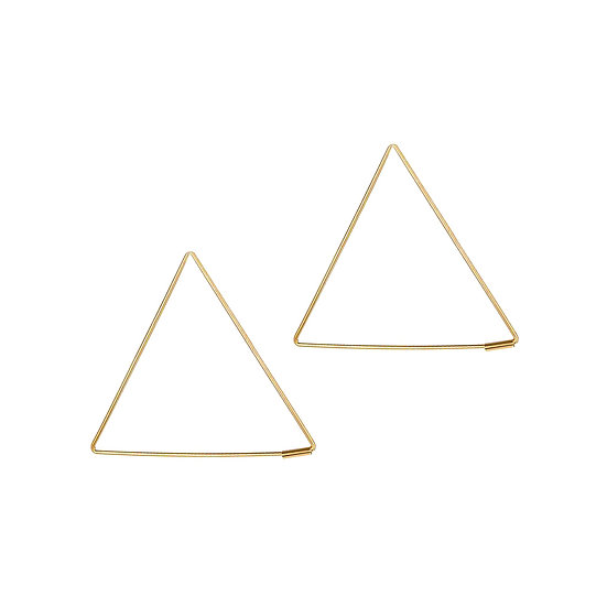 JUULRY Large Triangle Hoops Gold