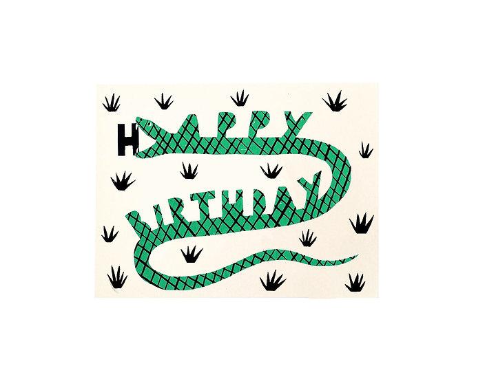 GILLIAN WILSON Birthday Snack Card