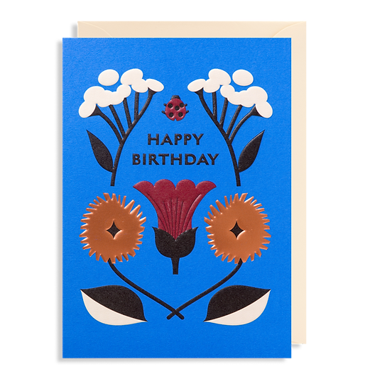 DARLING CLEMENTINE Birthday Blue Card