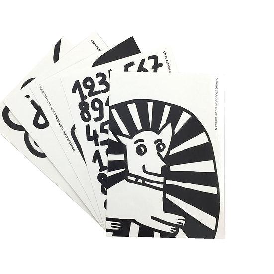 SARAH CORYNEN  Black and White Postcard Set
