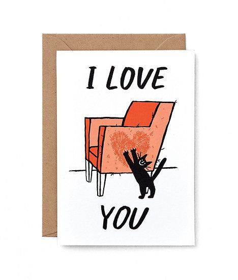 CARI VANDER YACHT Cat Love Card