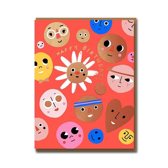 CAROLYN SUZUKI Happy Faces Card