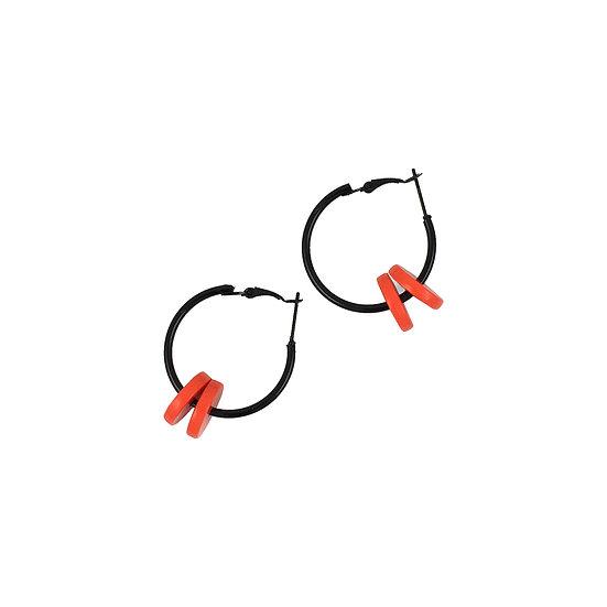 SCENERY LABEL Small Hoop Orange Disc