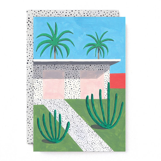 ANA POPESCU House and Palms Card