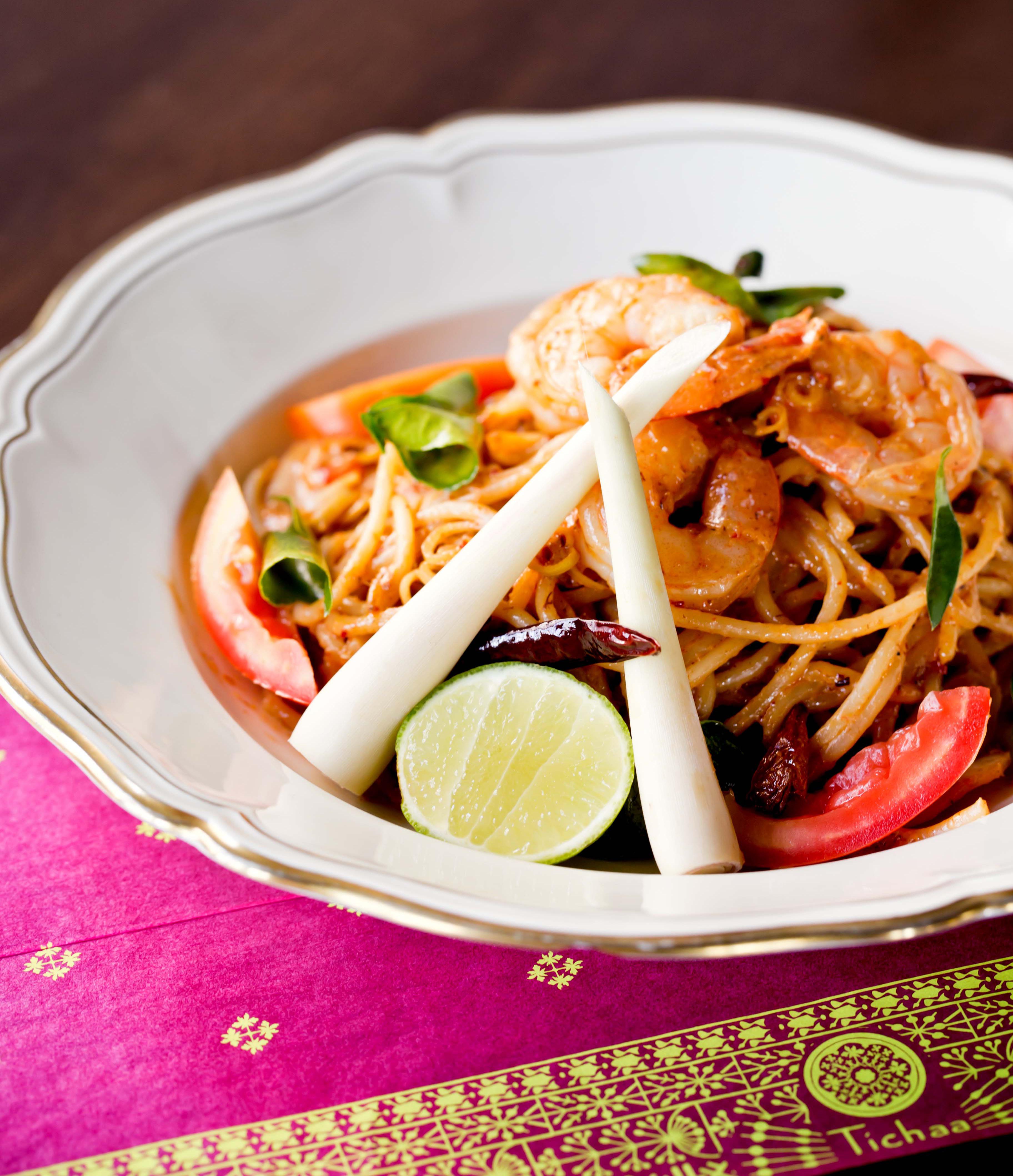 Spaghetti Tomyum Prawn