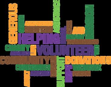 Volunteers word map