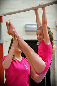 Bedwas Gymnastics Club member having fun