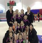 Bedwas Gymnastics Club competition squad