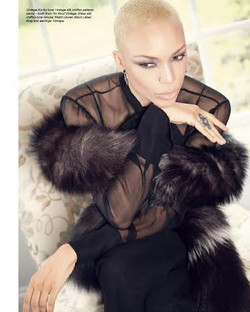 fur blouse