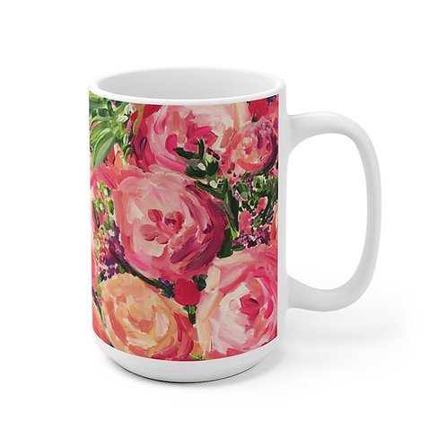 Pretty Peonies Mug