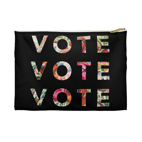 VOTE (Blooming) | Black | Carry-All Pouch