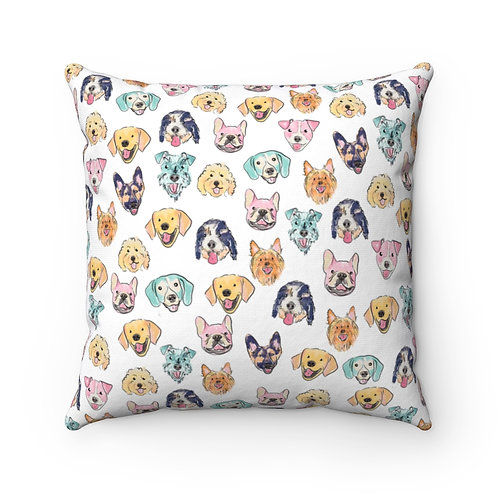 Colorful Dogs Square Pillow
