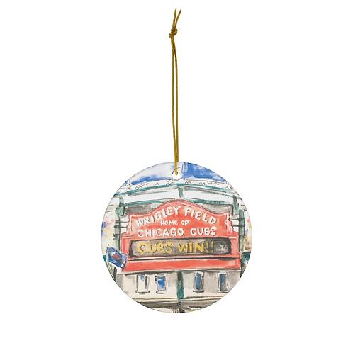 Wrigley Field Ornament