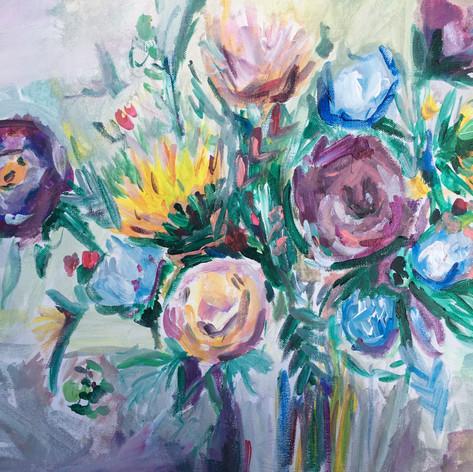 Custom Wildflower Painting