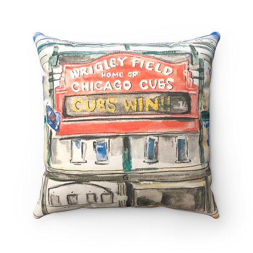 Wrigley Field Square Pillow