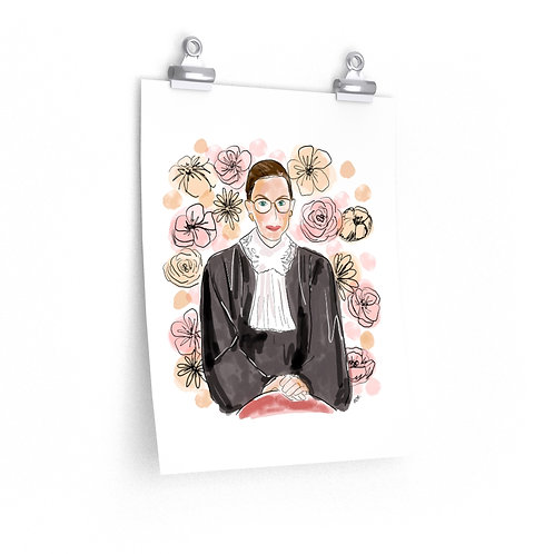 RBG Floral | Donate to ACLU | Poster