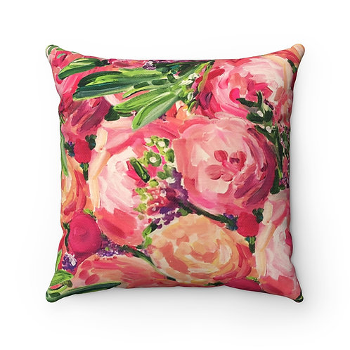 Pretty Peonies Square Pillow