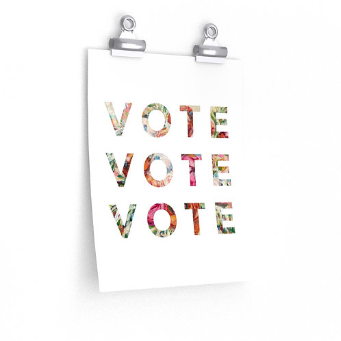 VOTE (Blooming) | White | Poster