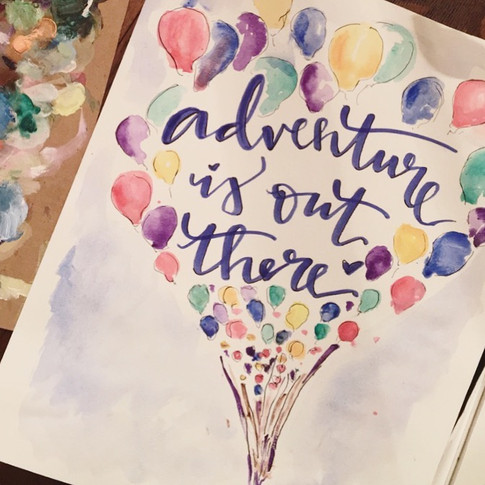 Adventure Is Out There Painting