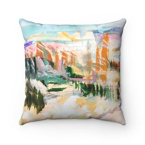 Sunset at Sullivans Square Pillow