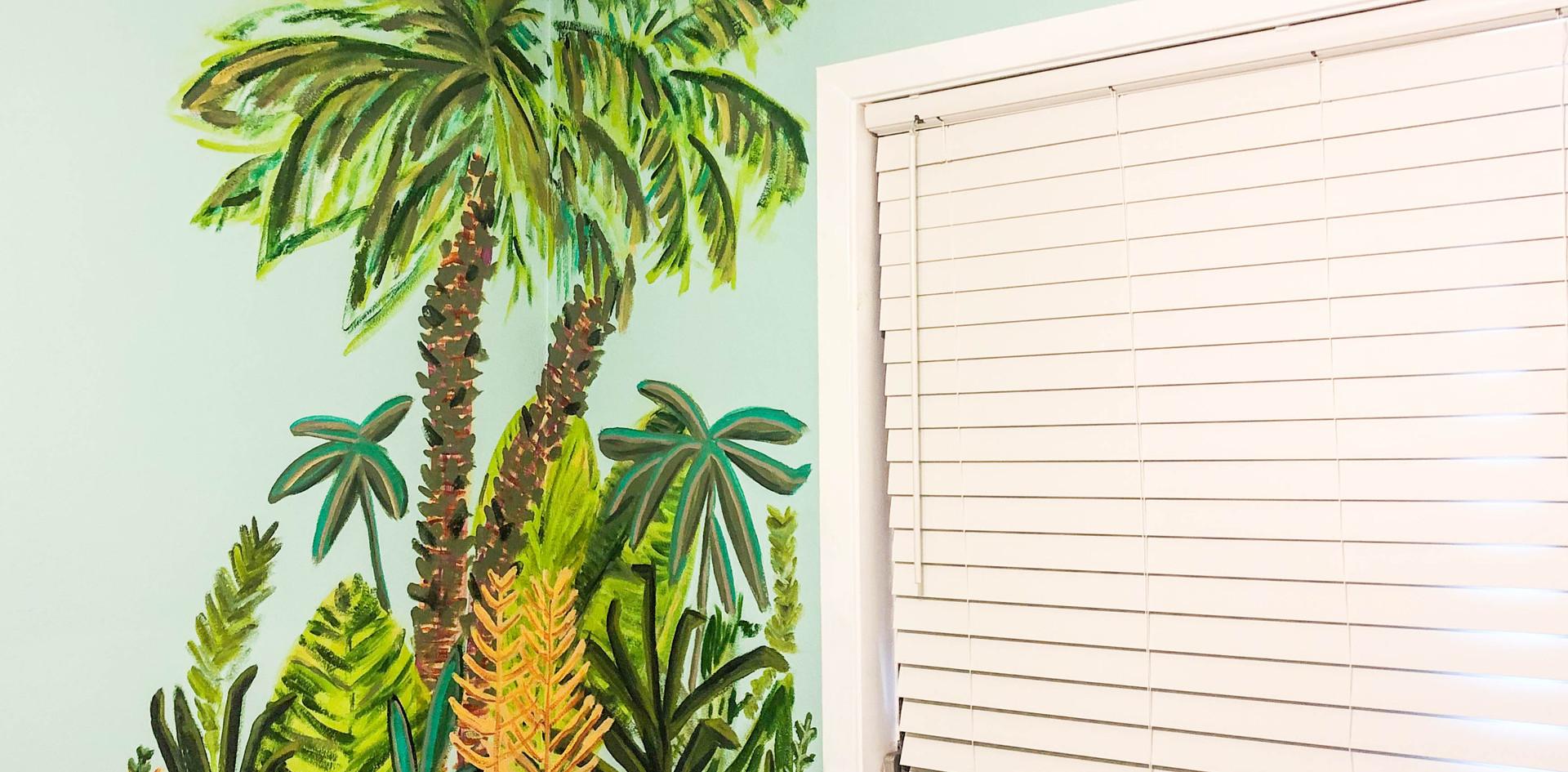 Palm Jungle Mural