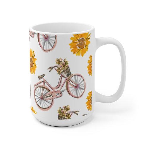 Sunflowers and Bikes Mug