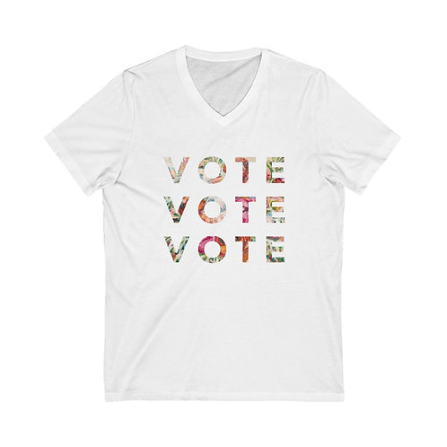VOTE (Blooming) | Multiple Colors | V-Neck Tee
