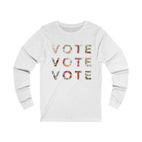 VOTE (Blooming)   Multiple Colors   Long Sleeve Tee