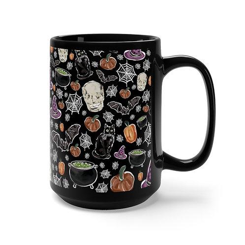 Spooky Season Black Mug 15oz