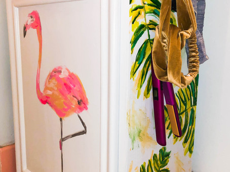 DIY Flamingo Cabinet