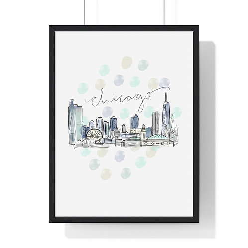 Chicago Skyline Fine Art Print (Framed)