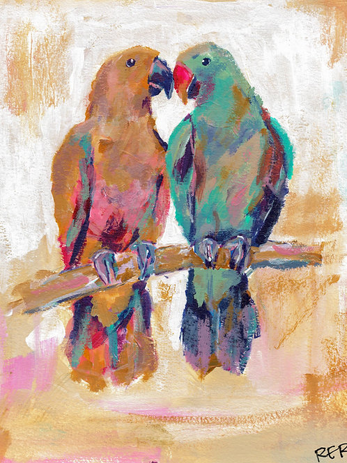 Birds Of A Feather Original Painting