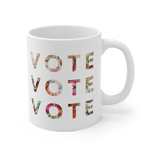 VOTE (Blooming) | White | Mug