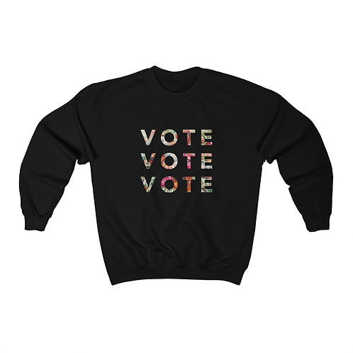 VOTE (Blooming) | Multiple Colors | Crewneck Sweatshirt