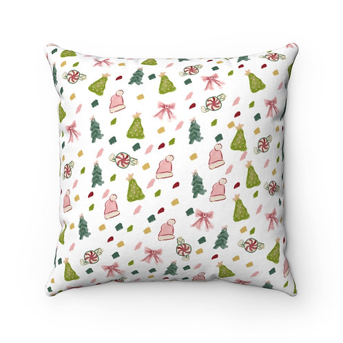Christmas Confetti Square Pillow
