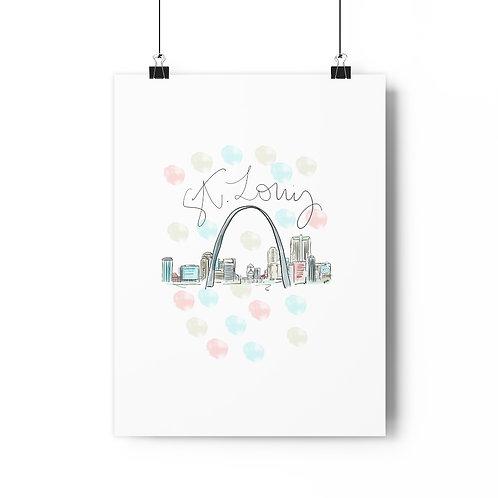 St. Louis Skyline Fine Art Print