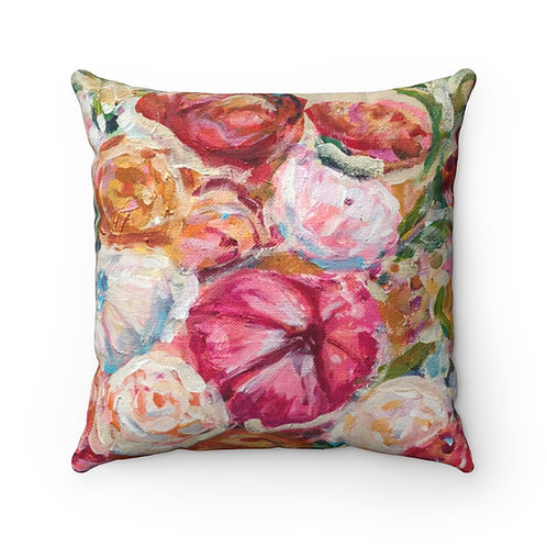 Blooming Square Pillow