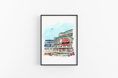Wrigley Field Pride Fine Art Print