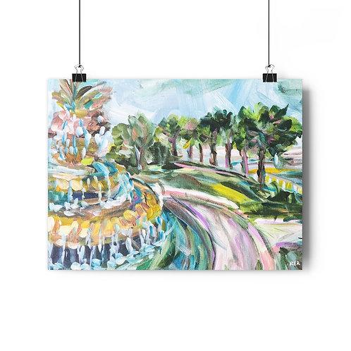 Pineapple Fountain Fine Art Print