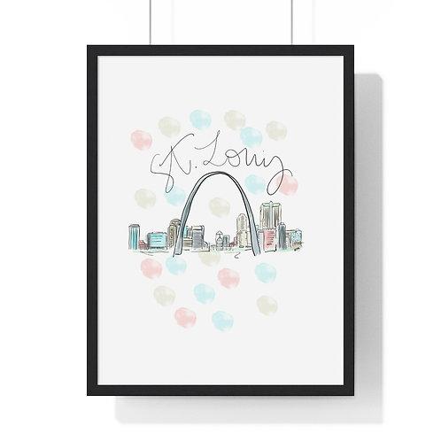 St. Louis Skyline Fine Art Print (Framed)