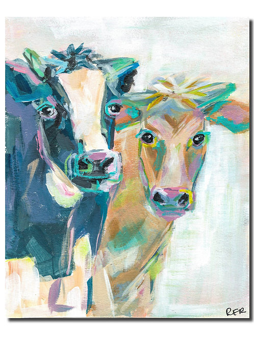 Cow Couple 8x10 PRINT