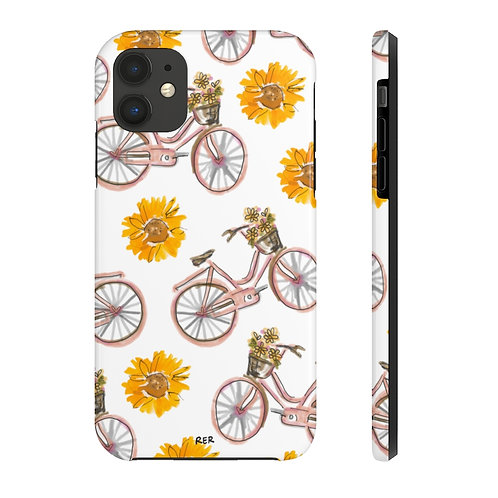 Sunflowers and Bikes Phone Case